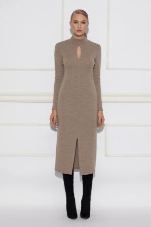 Long sleeve cut out detail  dress