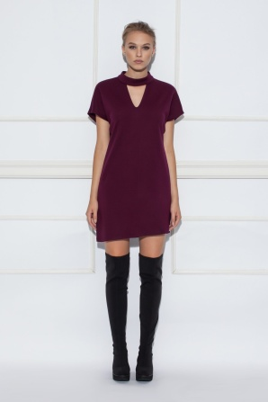 Violet choker mini dress