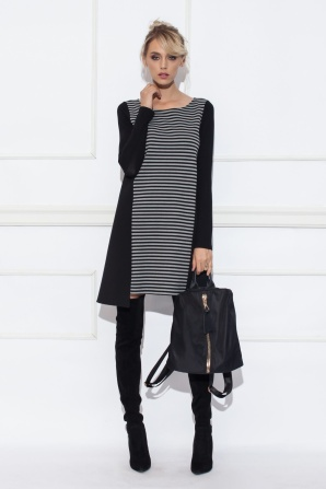 Striped Long sleeve dress