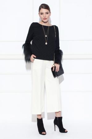 Cream culottes pants