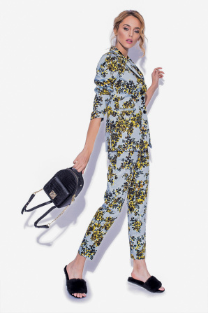 Casual jacket with floral print