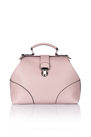 Structured bag with silver buckle