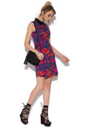 Multicolored print dress