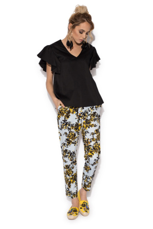 Versatile ladies΄ top with butterfly short sleeve