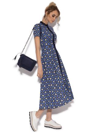 Casual printed flared dress