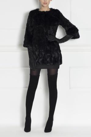 Real real fur black coat