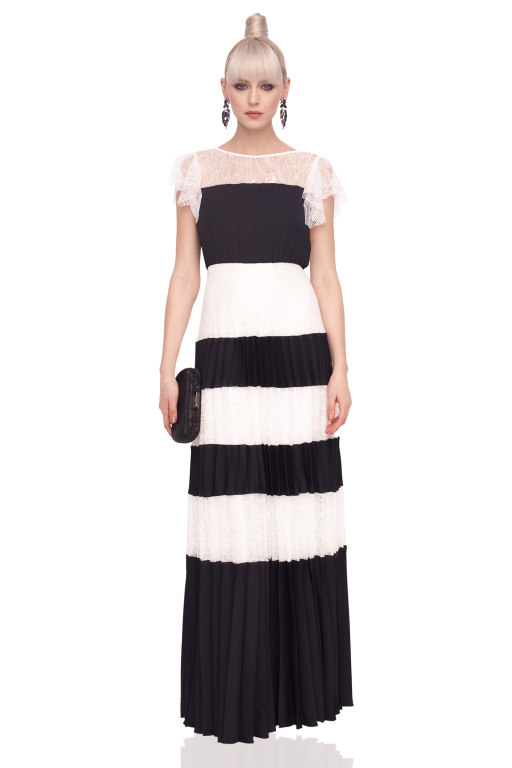 Spring 2018 trends black and white dress