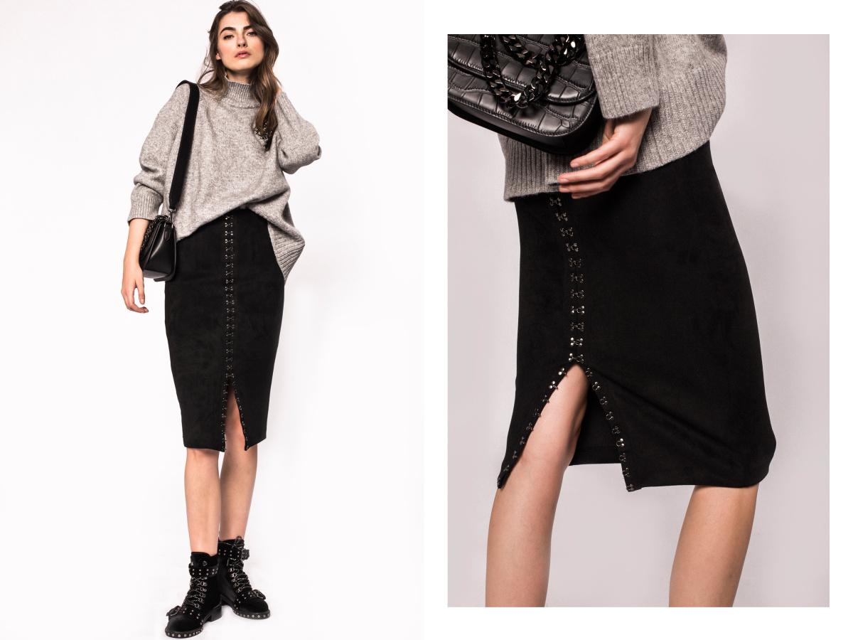 Hook and eye reversible skirt