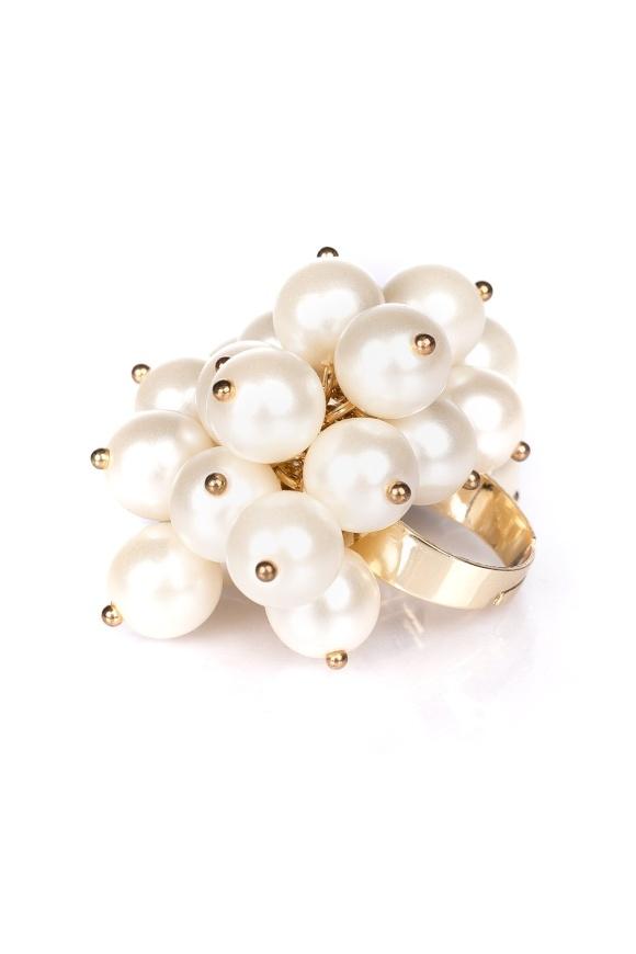 Inel auriu cu perla