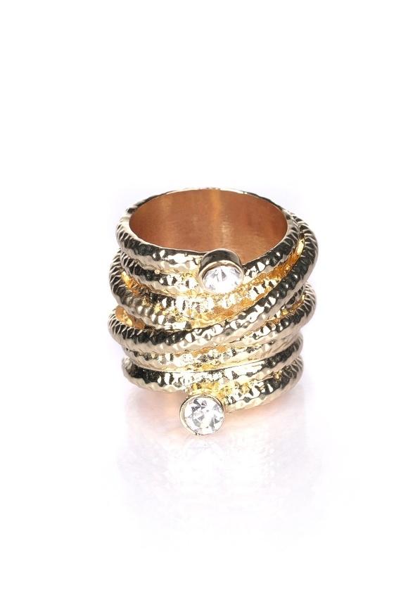 Inel auriu cu pietre