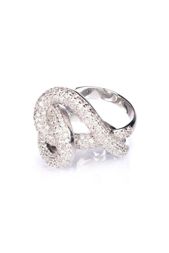 Inel din argint cu pietre de sticla