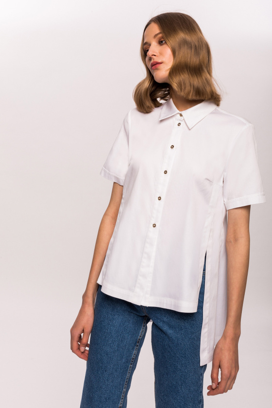 Assymetrical short sleeves shirt