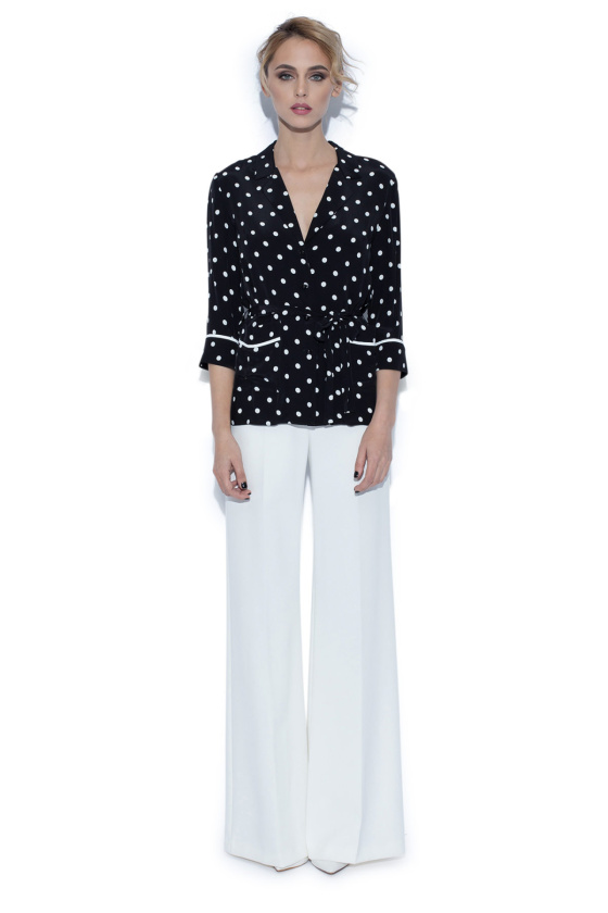 Loose  blouse with polka dots