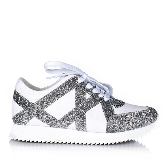 embellished black sneakers