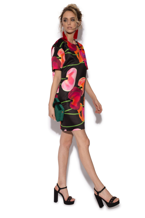 Poppies print cocktail dress