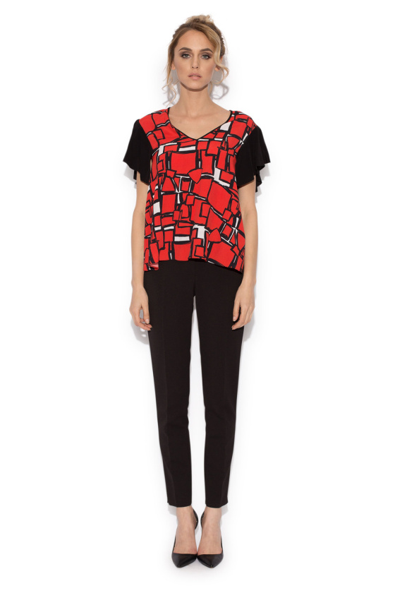 Casual geometric print top