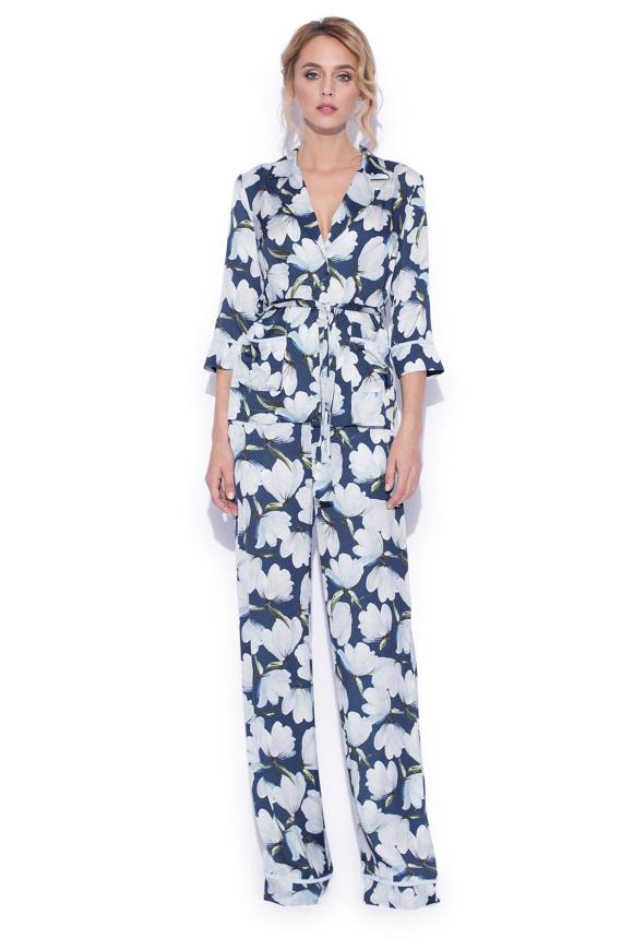 Pantaloni largi cu imprimeu floral