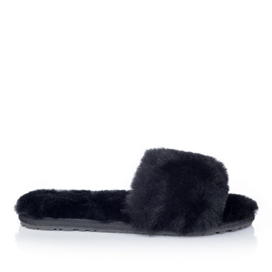 Elegant fur slides