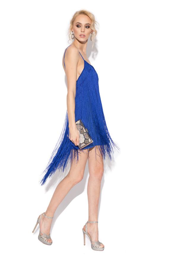 Fringe evening dress
