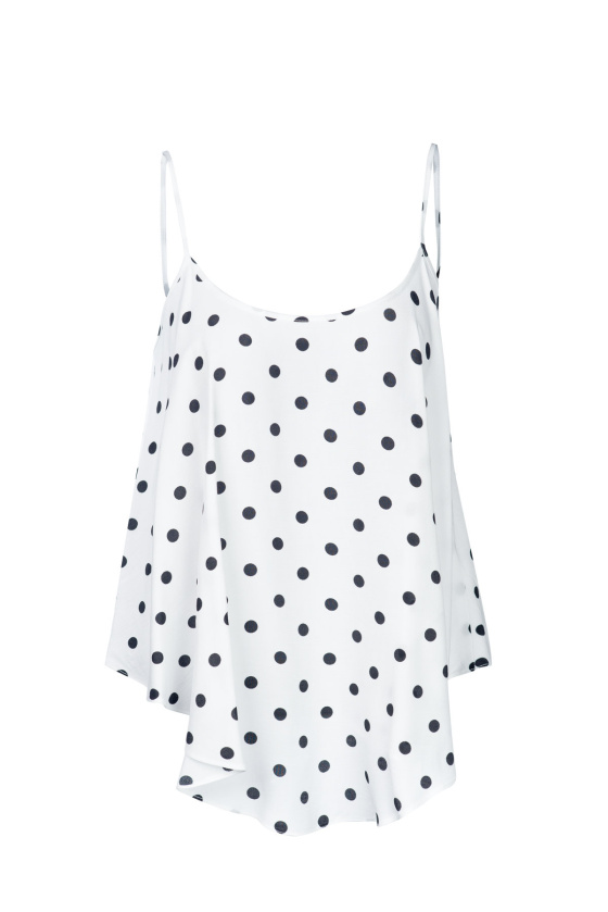 Straps polka dots top
