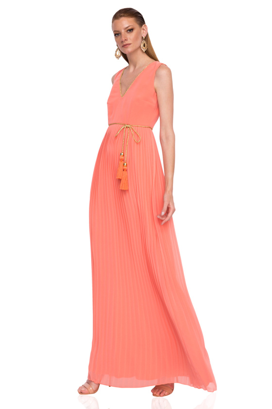 Pleated evening dress
