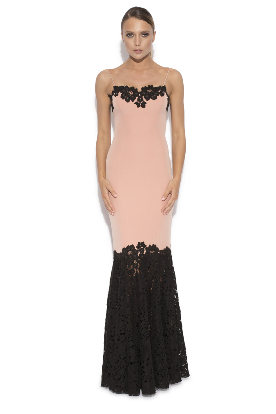 Evening dress with lace details