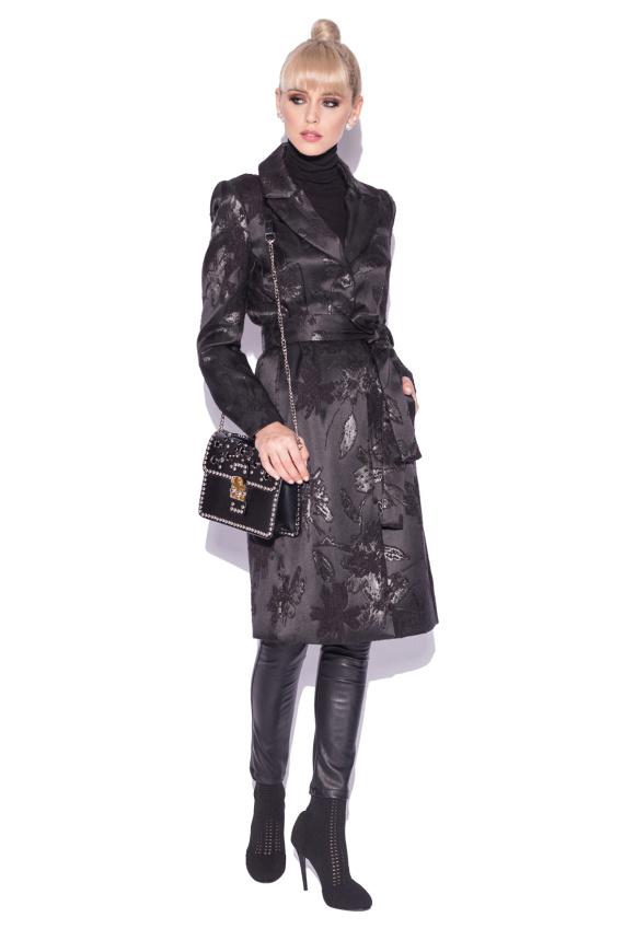 Palton elegant din brocart