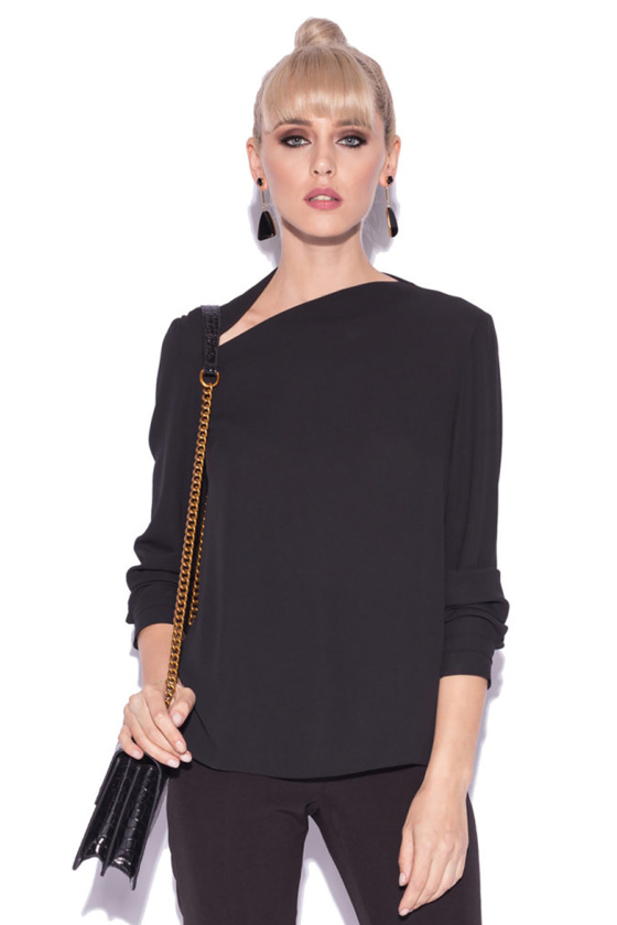 Top with asymmetrical neckline