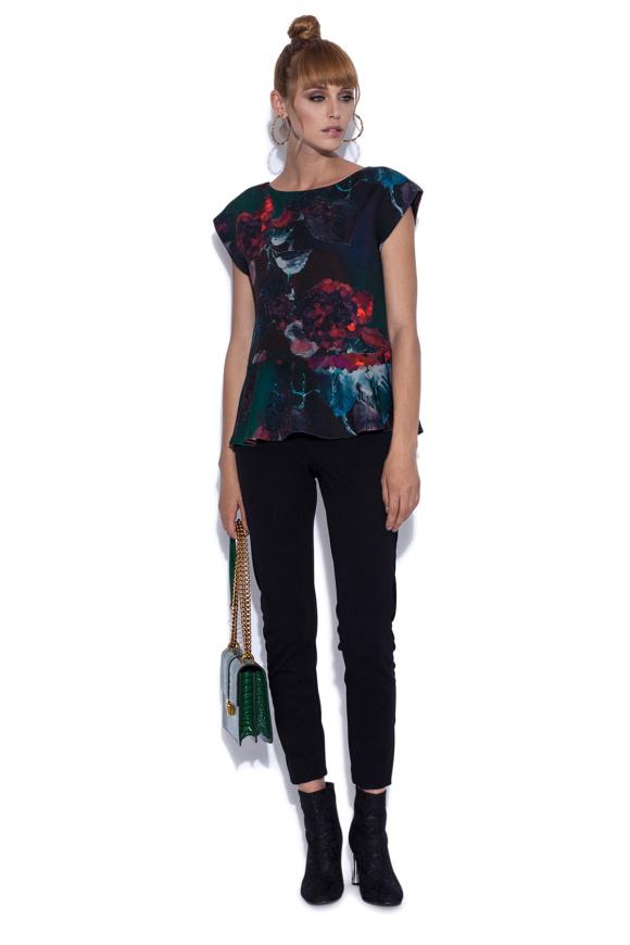 Peplum top in floral print