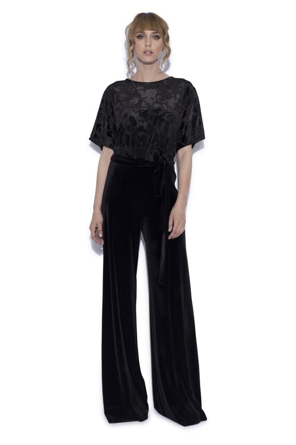 Velet jumpsuit with floral print
