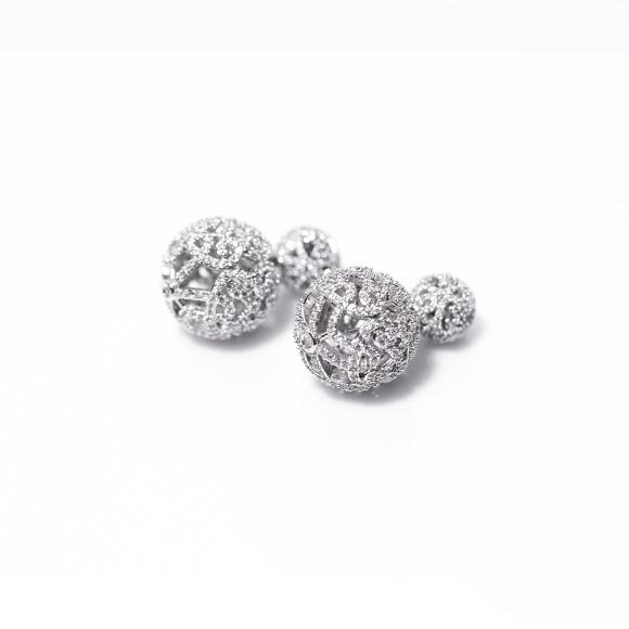 Cercei eleganti cu cristale de zirconiu cubic