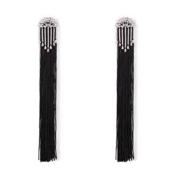 Cercei eleganti cu lanturi metalice