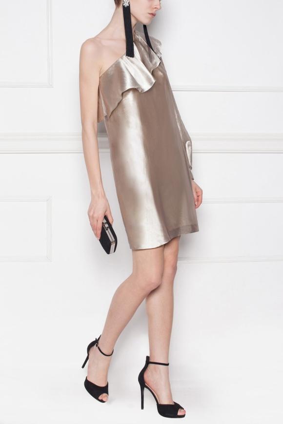Rochie de seară cu reflexe metalice