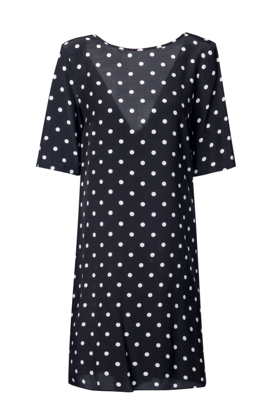 Asymetrycal polka dots dress