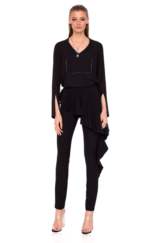 Slim trousers with waist detail