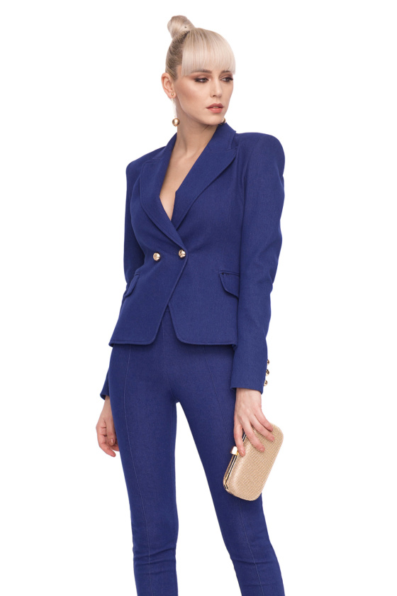 Fitted blazer with metallic buttons