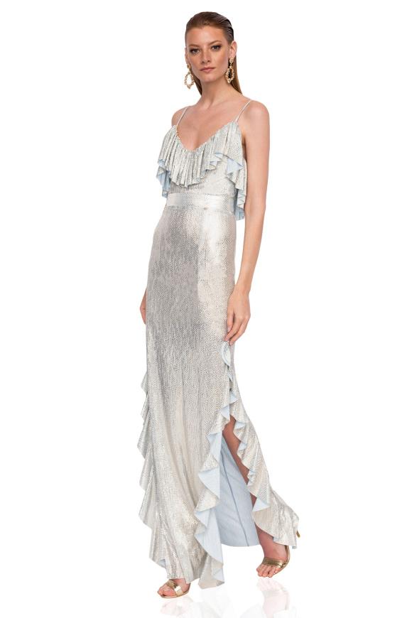 Maxi dress made of shiny fabric
