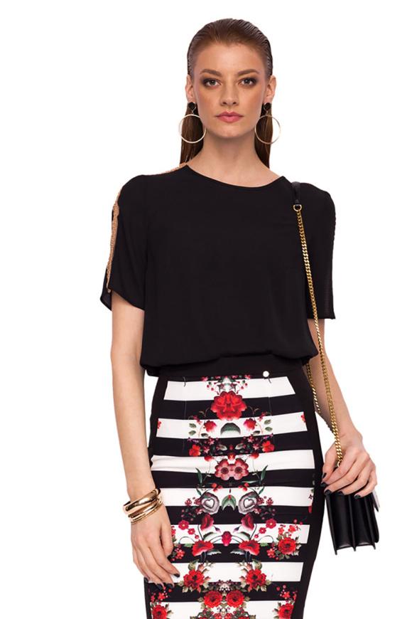 Short sleeved top with shoulder detail