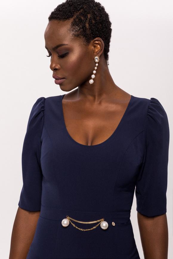 Fitted waist detail dress