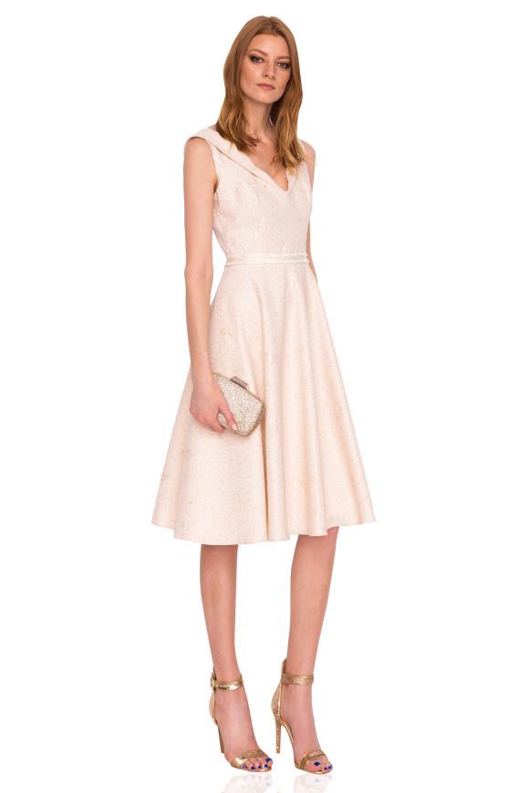 Midi dress with lapels