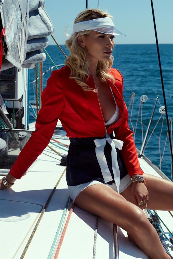 Jacheta casual in culori contrastante