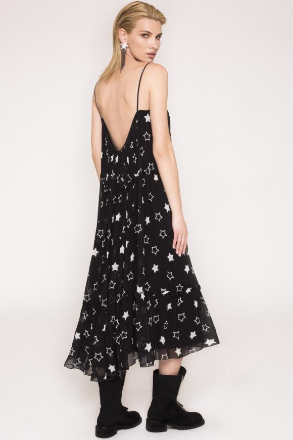 Rochie din vascoza cu print stele