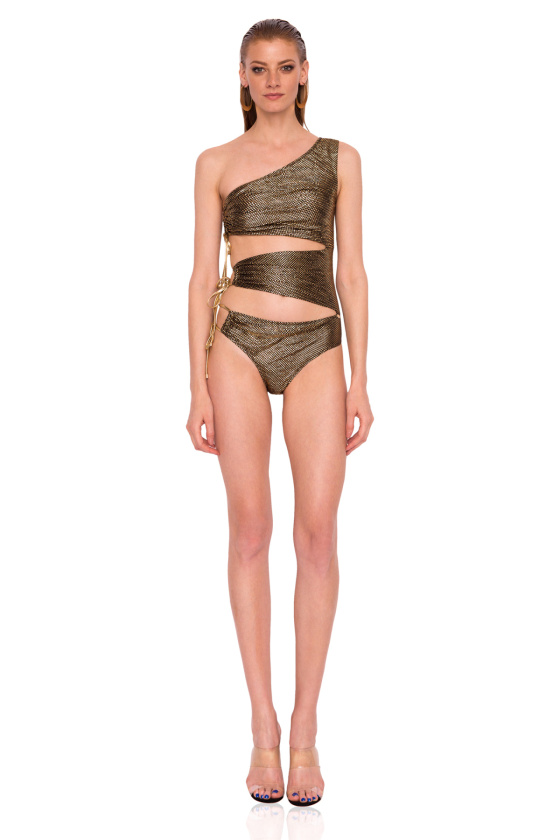 Swimsuit in metallic shades