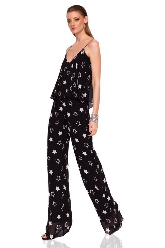 Elegant jumpsuit with star print