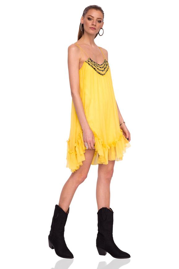 Elegant silk dress with thin straps