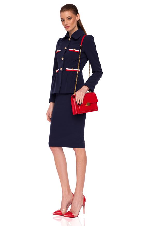 Navy office skirt