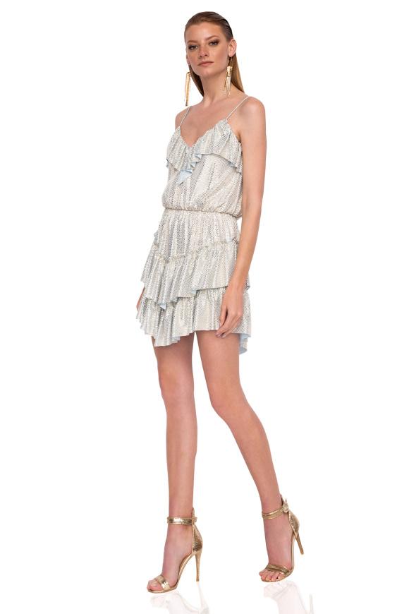Mini metallic dress