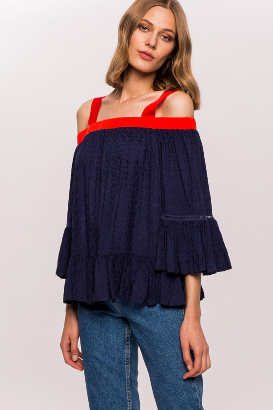 Viscose cold shoulders top
