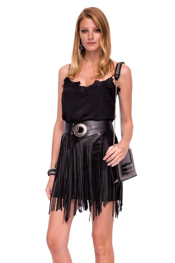 Mini skirt  with fringe details