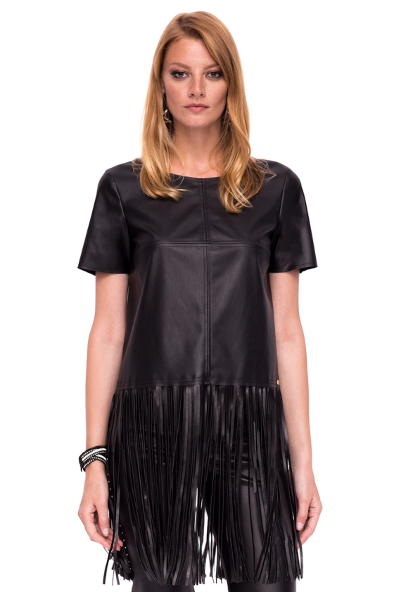 Casual fringed top